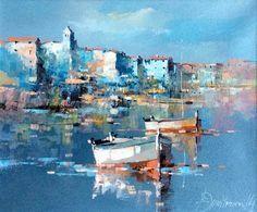 Branko Dimitrijevic, Blue Sea, Oil on Canvas, 25x30cm, £280