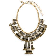 Sequin Crystal Frontal Statement Necklace