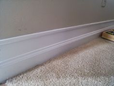 DIY Baseboard Moulding Upgrade Tutorial ~ On Bliss Street Diy Your Furniture, White Baseboards, Baseboard Molding, Painting Trim, Home Projects, Easy Diy, Interior, Diy Stuff, Remodeling