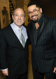GMC TV Vice Chairman Brad Siegel and Byron Cage attend the 28th Annual Stellar Awards Backstage at Grand Ole Opry House on January 19, 2013 in Nashville, Tennessee.