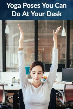 11 easy yoga stretches you can do at your desk to help avoid shoulder pain.