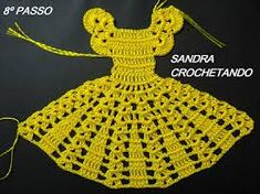 Crochet ideas that you'll love Crochet Baby Dress Free Pattern, Crochet Doily Patterns, Granny Square Crochet Pattern, Crochet Borders, Thread Crochet, Crochet Designs, Crochet Stitches, Knit Crochet, Crochet Home