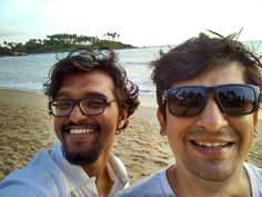 After endless number of selfies facing the sun, we decide to spare our eyes the misery. The Lintas guy finally gets time for Goa! Glad you made it! See you soon babe 😊  #Goa #Serene #PeaceOfMind #Palolem #brothers #Memories #Happy #selfie #igers #homesweethome #smile #instamemory #InstaShot #NoFilter #beach #nature #instagood #thankful #blessed #familia #GoaDiaries #goodtimes #InstaClick #amazingtime #goodvibes #happymemories
