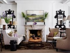 You may remember this contemporary barn Jo featured a few months ago by Atlanta-based firm D. Interior Design Living Room, Living Room Designs, Living Room Decor, Living Spaces, Living Rooms, Living Room Inspiration, Interior Inspiration, Contemporary Barn, Stucco Homes