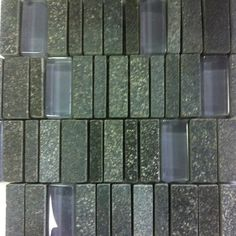 One of our beautiful glass and stone mosaic tile #MosaicMonday #tilesensations