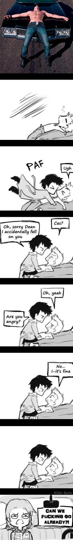It's fine Cas, It's fine by Nile-kun.deviantart.com on @deviantART