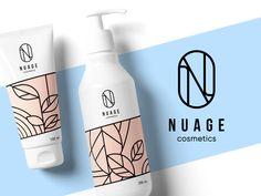 Nuage Cosmetics Identity Design by tubik on Dribbble Cosmetic Logo, Cosmetic Design, Cosmetic Packaging, Graphic Design Studio, Advertising Design, Graphic Design Typography, Identity Design, Brand Identity, Logo Design