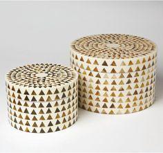 Triangle Stripe Boxes