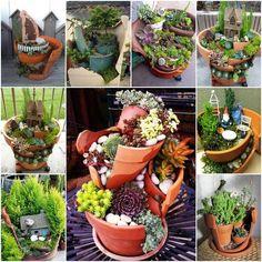 10 Ideias de Mini Jardins com Suculentas - http://decoracao24.com/10-ideias-de-mini-jardins-com-suculentas/