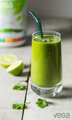 Whether you're making your smoothie wear green for St. Patrick's Day, or looking for a way to add more iron to your diet, this smoothie is the one for you. Pineapple and lime are both excellent sources of vitamin C, which aids in the absorption of iron from the spinach and Vega One.
