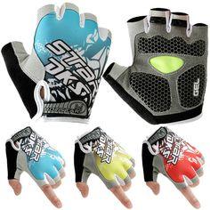 2017 Gel Pad Cycling Gloves Bike sport Gloves Bicycle Half Finger Gloves shockproof #Affiliate