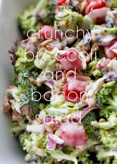 Crunchy Broccoli and Bacon Salad | My Name Is Snickerdoodle
