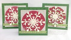 Snowflake cards - quick and easy