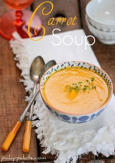 Simple Creamy Carrot Soup - Picky Palate - We made this today, great flavour, simple and quick to make, didn't require any salt or pepper.  My kids loved it too, and they are picky eaters!