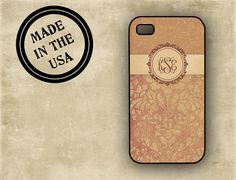 Monogrammed Iphone 5 case  by ToGildTheLily on Etsy