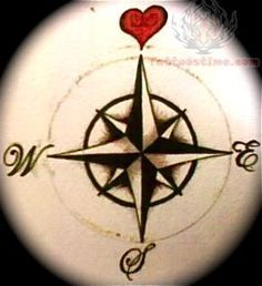 Let your heart, sweetheart, be your compass when you're lost…tattoo?!