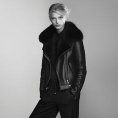 The shearling moto, part of a new outstanding collection of outerwear this fall.
