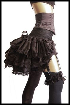 LADY LOVECRAFT Silk De Luxe Burlesque Steampunk Gothic Bustle Victorian Moulin Rouge Paris Showgirl Couture Fashion - Lovechild Boudoir: