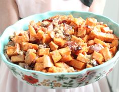 These brown sugar roasted sweet potatoes are the perfect side for Thanksgiving or Christmas. Beloved in Pinterest this recipe is a slam dunk.