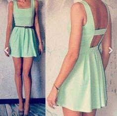 vestido color menta