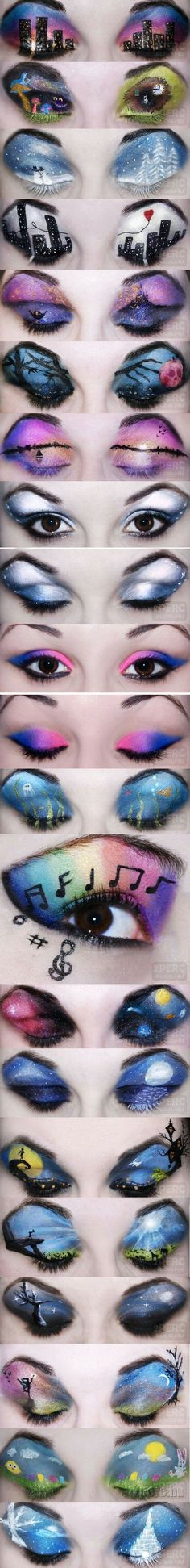 Amazing eyes. the girl who did these eyes is almost completely blind