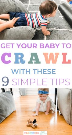 9 Tips on Getting Your Baby to Crawl – Teaching Littles 9 Tips to Teach Your Baby to Crawl – Teaching Littles - Baby Development Tips Teaching Babies, Baby Learning, Teaching Tips, Infant Activities, Fun Activities, 7 Month Old Baby Activities, Nursery Activities, Teach Baby To Crawl, 8 Month Old Baby