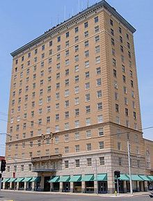 Cactus Hotel building:The tallest building in San Angelo, the Hotel Cactus, the fourth hotel ever built by Conrad Hilton, and he did it in high style back in the roaring 20s.