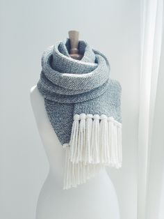 KNITTING PATTERN ⨯ Classic, Long Open-Ended Scarf ⨯ The Grand-Goâve You are in the right place about Knitting crochet Here we offer you the most. Double Knitting, Loom Knitting, Knitting Needles, Knitting Patterns Free, Scarf Patterns, Knitting Machine, Easy Knitting, Tweed, Crochet Scarves