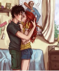 Harry and Ginny kiss