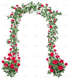 Rose Garden Arbor stock vector art 17873459 - iStock