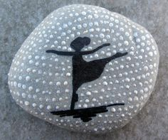 ***Hand Painted Stone Ballerina Silhouette by dmlrgn on Etsy