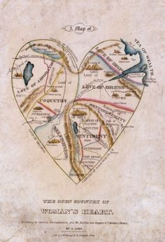 mapping of a woman's heart