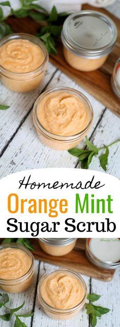 Orange Mint Sugar Scrub Recipe - Easy Homemade Gif…