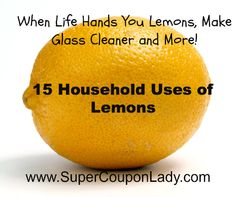 Use Lemons for all kinds of things. . .we've all done #9! Can't wait to try #'s1, 6, 14, 15!