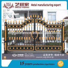 Source 2016 Newest Best quality aluminum gate, driveway gate, house gate designs on m.alibaba.com