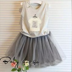 Cheap girl summer clothes sets, Buy Quality clothing sets directly from China clothes set Suppliers: DFXF 2017 Girls Summer Clothes Set Casual Cotton Sleeveless Shirt+Net Yarn Tutu Skirt Suit Girls Princess Clothing Set Trendy Baby Girl Clothes, Toddler Girl Outfits, Baby Girl Dresses, Toddler Girls, Kids Girls, Style Clothes, Baby Outfits, Casual Outfits, Fashion Kids