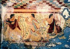 Utopia Capital: História da música e sua importância no pensamento humano - Capítulo II - Pintura mural em Tarquinia (500 a.C.)