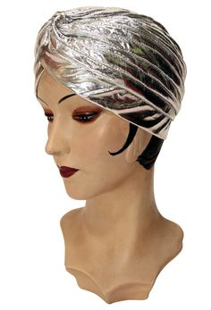 The Swanson Evening Turban - Silver Lamé