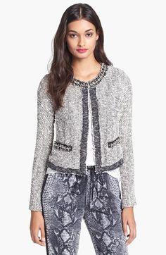 Rebecca Taylor Embellished Tweed Jacket | Nordstrom