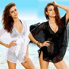 273c83f168e10 Women Sexy Cover Up Half Sleeve Hollow Lace Crochet Dress Swimwear Beach  Suit