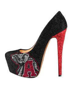 2013-14 Limited Edition Alabama Crimson Tide High Heel Crystal Pump shoes (Alabama Crimson Tide, Alabama Crimson Tide Crystal Pump high heel...