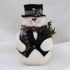 Snowman in a Vest and Top Hat