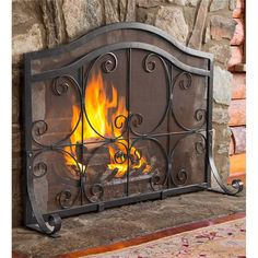 Crest Screen With Doors | Fireplace Tools | Plow & Hearth