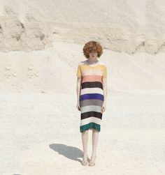 Indress Multicolour Stripe Silk Dress