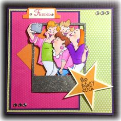 Picture Perfect Set (Sku#4130) from Art Impressions.  Girlfriends card with photo frame.