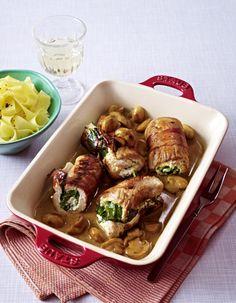 Unser beliebtes Rezept für Puten-Rouladen mit Spinat-Frischkäse-Füllung und mehr als 55.000 weitere kostenlose Rezepte auf LECKER.de.