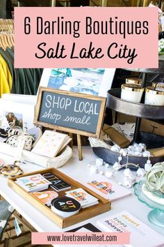 Shopping may not be your first priority when you are traveling, or maybe it is? Either way, we all love to bring home something fun and unique to where we have been. These 6 darling boutiques in Salt Lake City not only have locally made, hand-crafted gifts but you'll find the perfect souvenir for your trip as well. #souvenirs #travel #wheretoshop #usdestinations #utah #saltlakecity