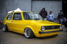 Photo by Thomas Clark Volkswagen Golf Mk1, Vw Mk1, Porsche, Audi, Vw Vintage, Yellow Car, Golf 1, Golf Humor, Modified Cars