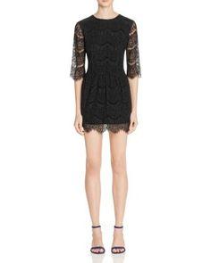 Suncoo Cerise Lace Dress   Bloomingdale's
