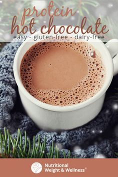 A delicious and creamy hot chocolate drink that is packed with protein and antioxidant superfoods! A delicious and creamy hot chocolate drink that is packed with protein and antioxidant superfoods! Blueberry Crumble Bars, Strawberry Oatmeal Bars, Healthy Hot Chocolate, Hot Chocolate Recipes, Peanut Butter Substitute, Quick Healthy Desserts, Healthy Snacks, Lemon Desserts, Different Recipes